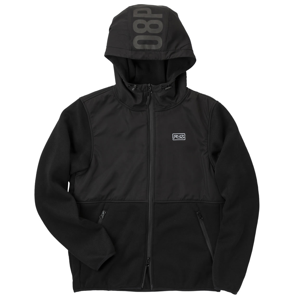MOBILITY-KNIT-ZIP-BLK